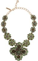 Oscar de la Renta Large Bold Jeweled Necklace - Lyst