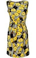 Diane Von Furstenberg Pansy Tweed Yellow Printed New Della Dress - Lyst