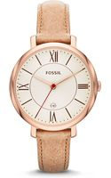 Fossil Ladies Jacqueline Threehand Watch - Lyst