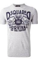 DSquared2 Printed Tshirt - Lyst