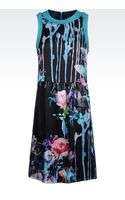 Emporio Armani Dress in Flower Print Silk - Lyst