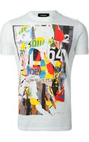 DSquared2 Abstract Print T-shirt - Lyst
