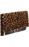 McQ by Alexander McQueen Leopard Fold Clutch - Lyst