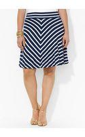 Lauren by Ralph Lauren Striped Jersey Skirt - Lyst