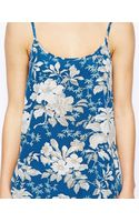Asos Longline Cami in Floral Print - Lyst