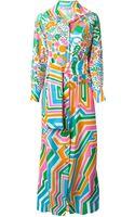 Lanvin Vintage Floral Print Dress - Lyst
