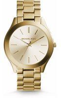 Michael Kors Slim Runway Gold-tone Stainless Steel Watch - Lyst