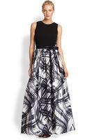 Aidan Mattox Abstract Printskirt Gown - Lyst
