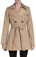 Via Spiga Belted Short Trench Coat - Lyst