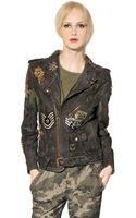 Mr. Mrs. Furs Vintage Military Leather Biker Jacket - Lyst