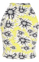 River Island Yellow Daisy Print Racer Front Crop Top - Lyst