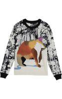 Tibi Forest Print Bear Sweater - Lyst