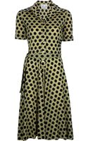 Ken Scott Vintage Polka Dot Dress - Lyst