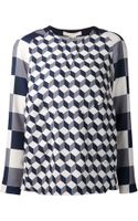 O'2nd Cube Print Patched Blouse - Lyst