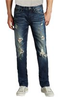 Guess Lincoln Distressed Straight Leg Jeans - Lyst