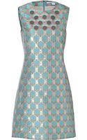 Diane Von Furstenberg Brocade Akoni Dress in Aquamarinecopper - Lyst
