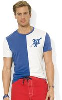 Polo Ralph Lauren Polo Customfit Colorblocked Jersey Crew Neck Tshirt - Lyst