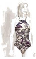 Hermes Eros Mythiques Phoenix Halter Onepiece Swimsuit - Lyst