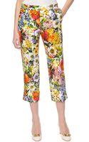 Dolce & Gabbana Floral Print Ankle Pants - Lyst