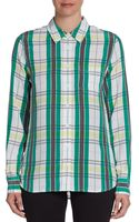 Equipment Brett Plaid Silk Blouse - Lyst
