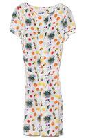 Suno Fruit Box Pleat Dress - Lyst