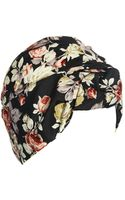 Asos Floral Oversized Knot Turban Hat - Lyst