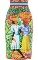 Stella Jean Euprotto Pencil Skirt - Lyst