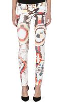 Etoile Isabel Marant Relly Skinny Stretch Denim Jeans White - Lyst