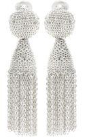 Oscar de la Renta Tassel Clip-on Earrings - Lyst