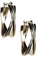 Anne Klein 12 Kt Gold Silvertone Hoop Earrings - Lyst