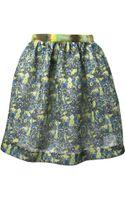 MSGM Flared Flower Print Skirt - Lyst