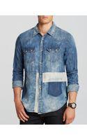Scotch & Soda Sawtooth Denim Sport Shirt Slim Fit - Lyst