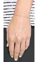 Elizabeth And James Kara Hand Bracelet Yellow Gold - Lyst