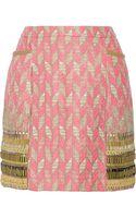 Matthew Williamson Embellished Tweed Mini Skirt - Lyst