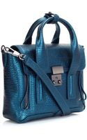 3.1 Phillip Lim Turquoise Leather Pashli Mini Satchel - Lyst