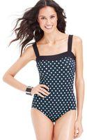 Inc International Concepts Polka-dot-print One-piece Swimsuit - Lyst