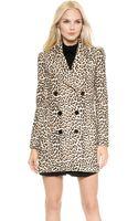 Carven Leopard Coat - Leopard - Lyst