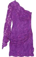Emilio Pucci One Shoulder Lace Mini Dress - Lyst