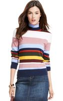 Tommy Hilfiger Striped Turtleneck Sweater - Lyst