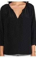 Joie Balisa Polka Dot Silk Blouse in Black - Lyst