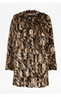 French Connection Tabby Fur Coat - Lyst