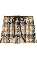 See By Chloé Patchwork-effect Tweed Mini Skirt - Lyst