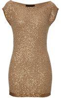 Donna Karan New York Cashmere Sequined Tunic - Lyst