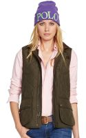 Polo Ralph Lauren Leather-trim Quilted Utility Vest - Lyst