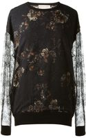 Jason Wu Floral Printed and Lace Top - Lyst
