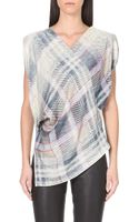 Vivienne Westwood Anglomania Faded Tartan Print Blouse - Lyst