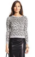 Diane Von Furstenberg Metallic Leopard Sweater - Lyst