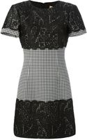 Michael Kors Houndstooth Lace Dress - Lyst