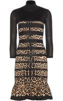 Roberto Cavalli Woolblend Dress - Lyst