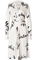 Issa Silk Jersey Wrap Waist Dress - Lyst